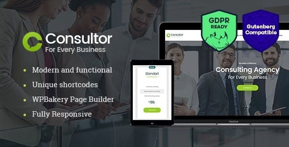 Consultor v1.2.4 | A Business Financial Advisor WordPress Theme