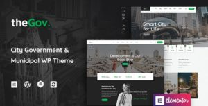 TheGov – Municipal and Government WordPress Theme v1.0.11 Nulled