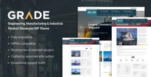 Grade – Engineering, Manufacturing & Industrial Product Showcase WP Theme v2.0.0 nulled