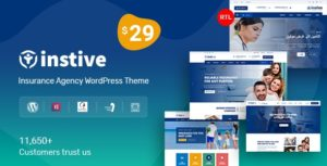Instive – Insurance WordPress Theme 1.0.7 nulled