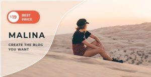 Malina – Personal WordPress Blog Theme v2.0.1 nulled
