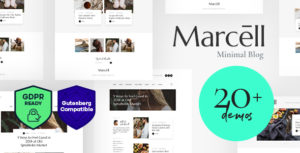 Marcell – Personal Blog & Magazine WordPress Theme v1.2.3 nulled