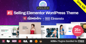 Phlox Pro – Elementor MultiPurpose WordPress Themes v5.5.6 Nulled