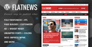 FlatNews – Responsive Magazine WordPress Theme v4.9 nulled