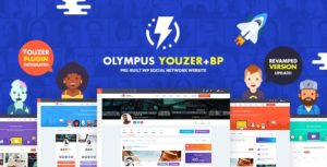 Olympus – Powerful BuddyPress Theme for Social Networking v3.11 nulled