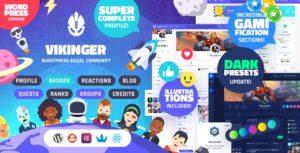 Vikinger – BuddyPress and GamiPress Social Community v1.3.3 nulled