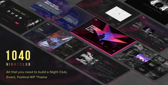 1040 Night Club v1.2 – DJ, Party, Music Club WordPress Theme