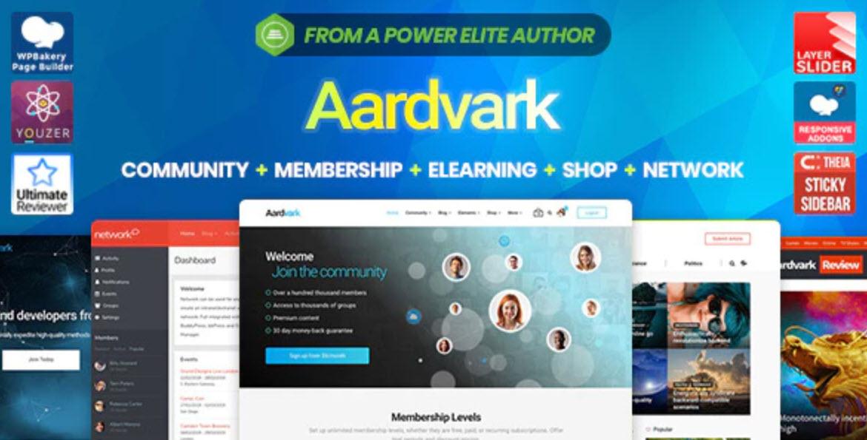 Aardvark v4.5.11 – BuddyPress, Membership & Community Theme