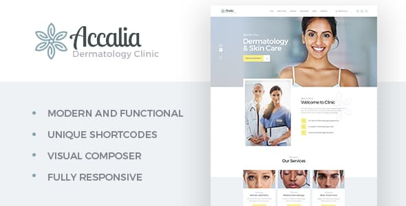 Accalia v1.2.2 | Dermatology Clinic WordPress Theme