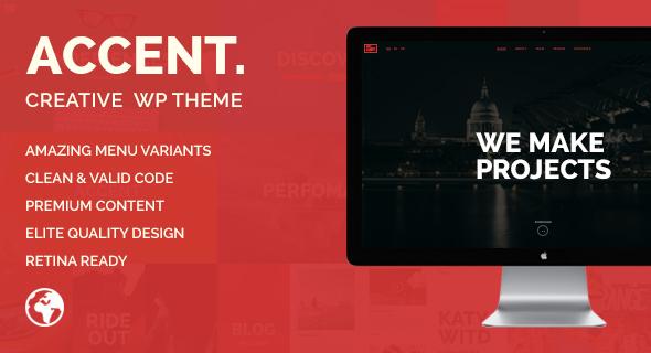 Accent v1.1.1 — Creative Responsive WordPress Theme