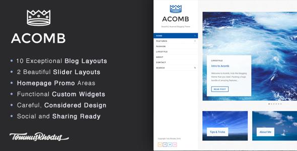 Acomb v1.0.7 – Responsive Blogging WordPress Theme