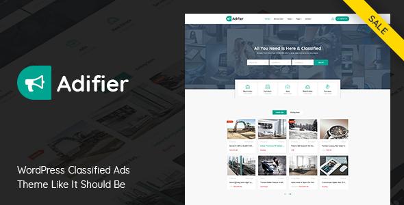 Adifier v3.8.1 – Classified Ads WordPress Theme