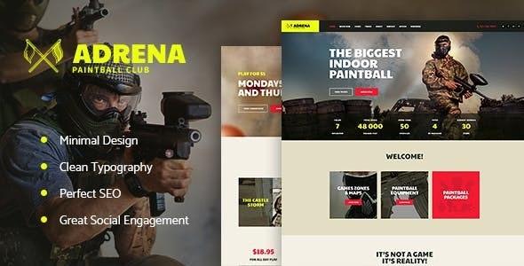 Adrena v1.2.1 | Airsoft Club & Paintball WordPress Theme