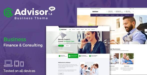 Advisor v1.4.1   Consulting, Business, Finance WordPress Theme