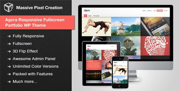 Agera v1.2.5 – Responsive Fullscreen Portfolio WP Theme