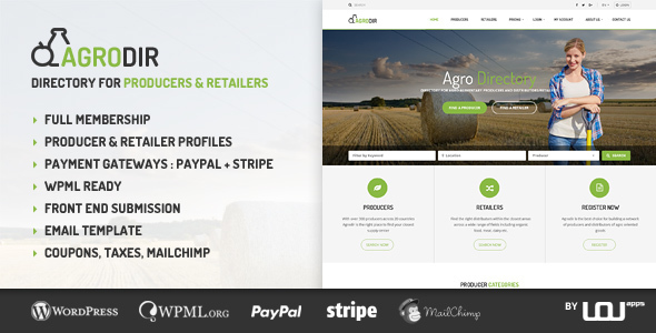Agrodir v1.1.2 – Directory for Producers & Retailers