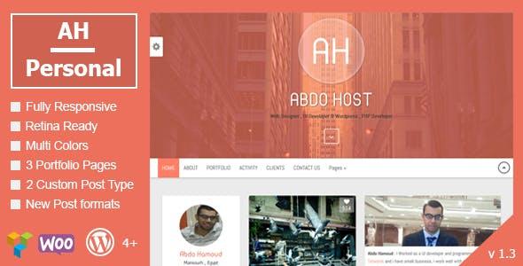 AH Personal v1.3 – Creative Resume & Blog Theme