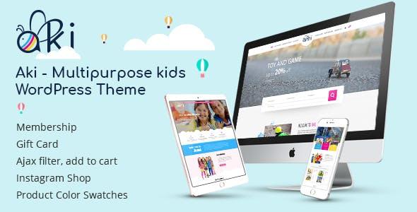 Aki v1.2.8 – Multipurpose Kids WordPress Theme