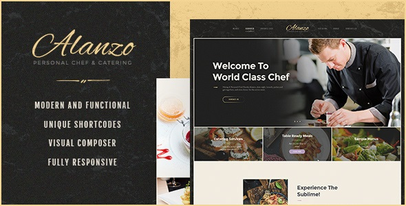 Alanzo v1.0.2 | Personal Chef & Catering WordPress Theme