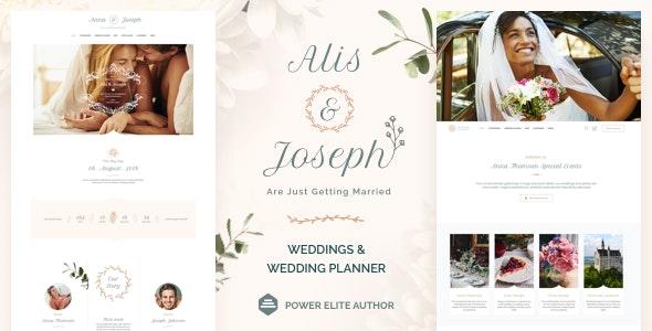 Alis v3.0 – Wedding Planner WordPress Theme