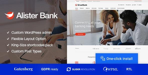 Alister Bank v1.0.7 – Credits & Banking Finance WordPress Theme