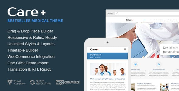 Care v4.7.1 – Medical and Health Blogging WordPress Theme