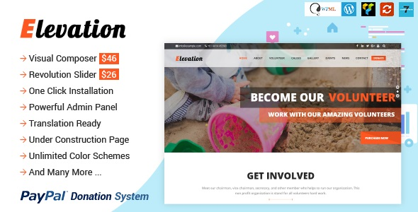 NULLED - ELEVATION - Charity/Nonprofit/Fundraising WP Theme FREE DOWNLOAD