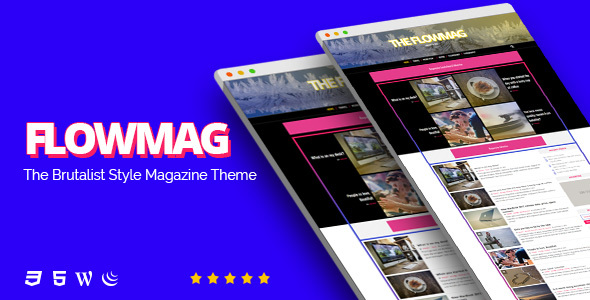 FlowMag v1.0 – Brutalist WordPress Magazine Theme