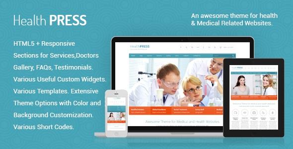 HealthPress v1.7.2 – Health and Medical WordPress Theme