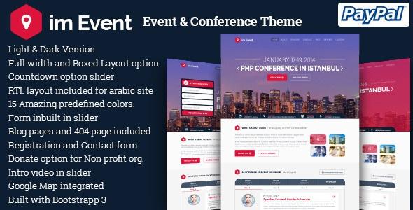im Event v3.2.5 – Event & Conference WordPress Theme