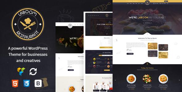 La Boom v2.4 – Food & Restaurant Bistro WordPress Theme