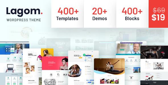 NULLED - Lagom v1.0.5 - Multi Concept MultiPurpose WordPress Theme FREE DOWNLOAD