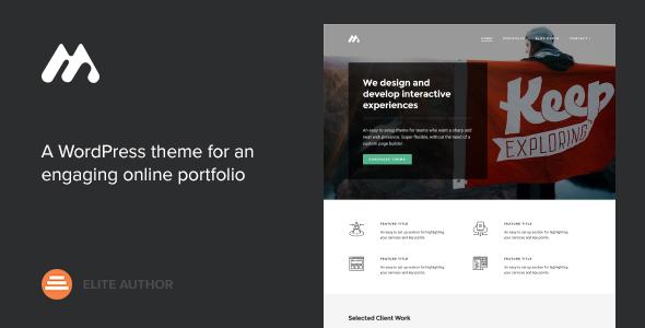 Meth v2.1.2 – A Minimal One Page Portfolio Theme