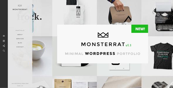 Monsterrat v1.2.1 – Minimal WordPress Portfolio Theme