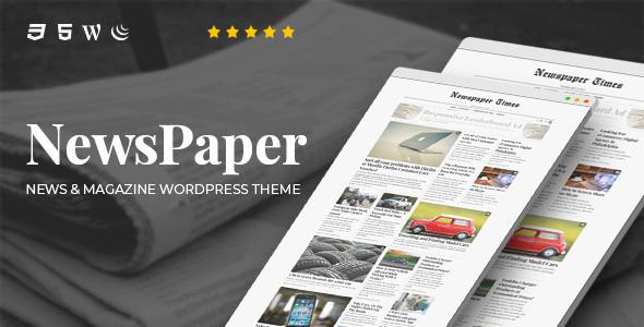 NewsPaper v4.0 – News & Magazine WordPress Theme