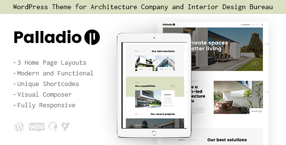 Palladio v1.1.2 | Interior Design & Architecture WordPress Theme