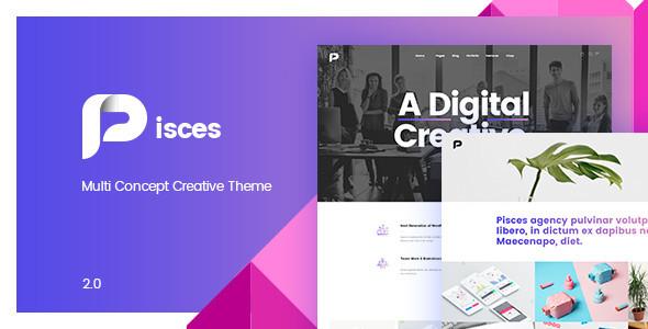 Pisces v2.0.5 – Multi Concept Creative Theme