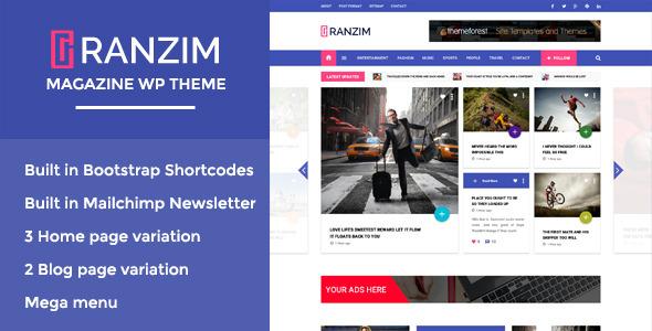 Ranzim v1.0 – Responsive Magazine WordPress Theme