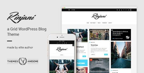 RinjaniA v1.6 – Responsive Grid Blog Theme