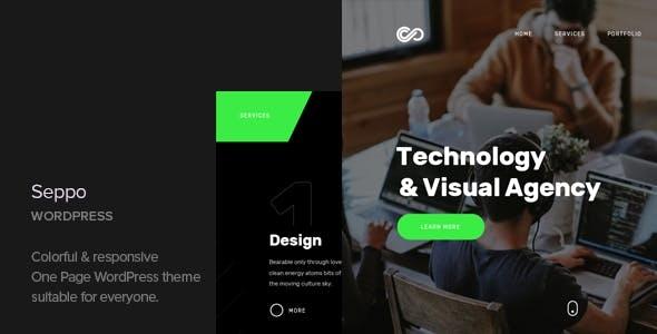 Seppo v1.2 – Corporate One Page WordPress Theme