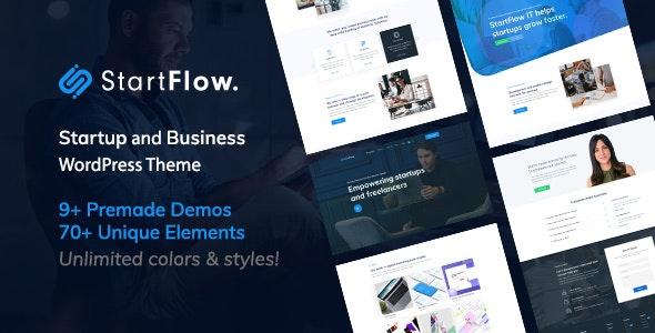 Start Flow v1.2 – Startup and Creative Multipurpose WordPress Theme