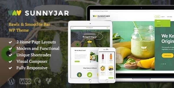 SunnyJar v1.3 – Smoothie Bar & Healthy Drinks Shop WordPress Theme
