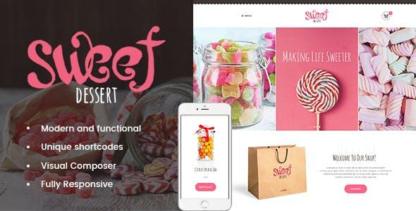 Sweet Dessert v1.1.2 | Sweet Shop & Cafe WordPress Theme