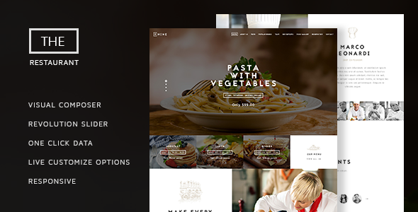 The Restaurant v1.4 – Restauranteur and Catering One Page Theme
