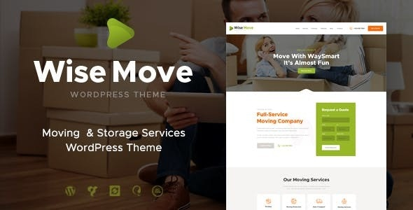 Wise Move v1.1.3 | Relocation and Storage Services WordPress Theme