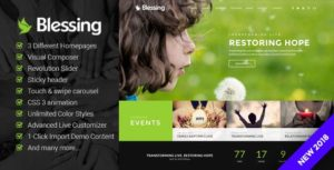 Blessing | Responsive WordPress Theme for Church Websites v1.6.0 nulled