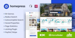 HomePress – Real Estate WordPress Theme v1.1.9 Nulled