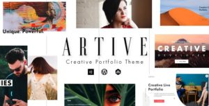 Artive – Creative Portfolio WordPress Theme v1.0.0 nulled