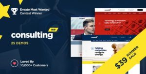 Consulting – Business, Finance WordPress Theme v5.1.2 Nulled