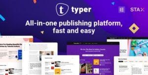 Typer – Amazing Blog and Multi Author Publishing Theme v1.9.1 Nulled